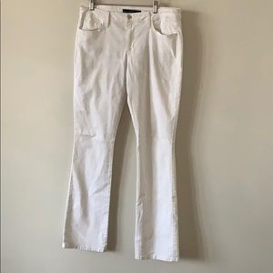 Joe's Jeans Slim Fit Mini Boot Jeans White Size 32